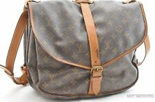 Authentic Louis Vuitton Monogram Saumur 35 Shoulder Bag M42254 LV R093
