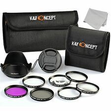 52mm UV CPL FLD Macro Close up +1 +2 +4 +10 Lens Filter Kit For Nikon Canon Sony