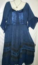 Dress Long Blue Renaissance Style w/Bustier Sz XL Free Shipping to US