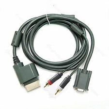 High Definition HDTV AV HD VGA Cable Digital Optical Audio Port For XBOX 360 New