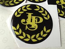 50MM JPS  LOTUS WHEEL CAP RESIN 3D  DOMED JOHN PLAYER SPECIAL BRAND NEW STICK ON