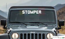 Windshield Front Window Decal Sticker Glass Vinyl  STOMPER For Jeep Wrangler kit