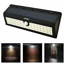 Outdoor Garden 44 Leds Solar Powered PIR Motion Sensor Security Wall Light Lamp