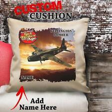 PERSONALISED WELLINGTON BOMBER WW2 PLANE RAF   Cushion Cover Dad GRANDAD