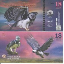 ATLANTIC FOREST BILLETE 18 AVES DOLLARS 2016 SPECIMEN