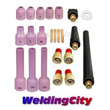 "TIG Welding Gas Lens Accessory Kit .040""-1/8"" for Torch 9/20/25 T32B 