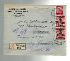 1940 Nisko Poland Germany GG cover Rzezow forwarded to Trier 521 Pioneerparkes