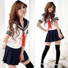 Japan School Schulmädchen Cosplay Kostüm Girls Sailor Kleid British Schuluniform