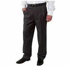 NEW Kirkland Signature Men's Wool Pleated Dress Slack Pant Charcoal Twill 34x30