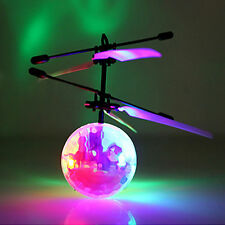 Child Flying RC Ball LED Flash Light Aircraft Helicopter + USB Cable Kids Toys