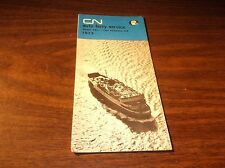 1974 CANADIAN NATIONAL P.E.I. TO CAPE TORMENTINE AUTO FERRY SERVICE TIMETABLE