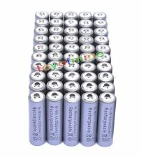50x AA 3000mAh 2A 1.2 V Ni-MH Grey Rechargeable Battery Cell for MP3 RC Toys