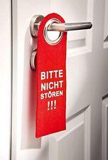 Filzanhänger Türschild Türhänger rot Bitte nicht stören beidseitig bedruckt