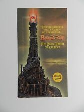 Danbury Mint LOTR The Dark Tower Of Sauron Brochure Pamphlet Mailer