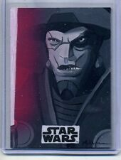 2016 TOPPS STAR WARS ROGUE ONE MISSION BRIEFING SKETCH Jeff Mallinson INQUISITOR
