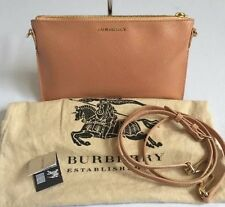 NEW BURBERRY Pale Coral Patent Leather Peyton Convertible Clutch Crossbody $650
