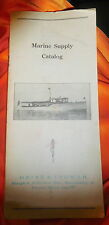 Vintage Marine Supply catalog Heinz Ingwer Sandusky Ohio,18 pg,antique nautical