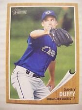 DANNY DUFFY RC 2011 Topps Heritage Minors baseball card ROYALS OMAHA Rookie #105