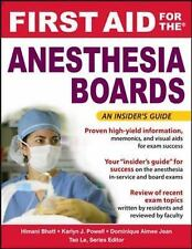 FIRST AID Specialty Boards Ser.: Anesthesiology Boards by Dominique Aimee...
