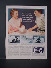 1934 P and G White Naptha Laundry Soap Detergent Look Laura Vintage Print Ad 229