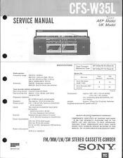 Sony Original Service Manual für CFS-W 35 L