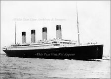 Photo: RMS Titanic Underway On The River Test In Southampton, April 10th, 1912