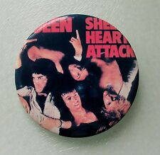 QUEEN LARGE VINTAGE METAL PIN BADGE FROM THE 1970's SHEER HEART ATTACK