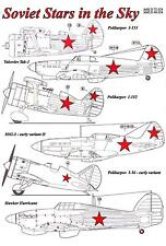 AML Models Decals 1/48 SOVIET STARS IN THE SKY Russian WWII National Markings