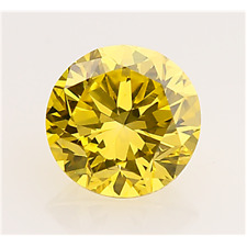 3.00 CT. CANARY YELLOW LOOSE 9.50 MM. ROUND MOISSANITE VVS1 SUPERIOR TO DIAMOND