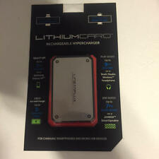 LithiumCard Silver/Black Ultra-Thin HyperCharger 1200mAh Micro USB