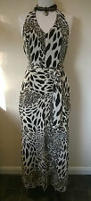 Joseph Ribkoff UK 14 stunning animal print halterneck Summer Cocktail Jumpsuit