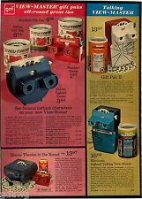 1973 PAPER AD 2 Pg Viewmaster Charlie Brown Theater Round Talking Projector Case
