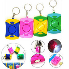 Women Personal Safety Loud Panic Attack Security Rape Alarm Keychain With LED