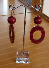 4033185 - Red Oval Earring (OSM) Global & Vine Collection by Enesco