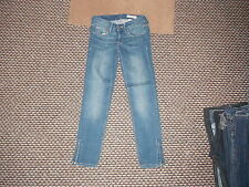 "& and Sqin Ankle Waist 25"" Leg 25"" Faded Dark Blue Ladies Jeans"