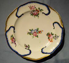 Rare antique french sevres porcelain plate ~ 18th siècle ~ C1750-1790 ~