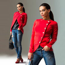 Fashion Women's Spring Casual Slim Fit Placket Long Sleeve Lady Jacket Coat TOPS