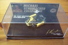 1/43 MICHAEL SCHUMACHER Nr 06 GO KART YELLOW BENETTON OVERALL