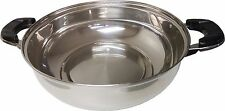 **NEW** Stainless Steel Shabu Hot Pot with Concave Bottom- NO GLASS COVER