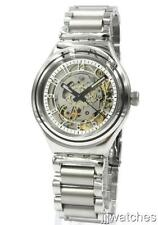New Swatch Irony Uncle Charly Steel Automatic Medium Men Watch 38mm YAS112G $190