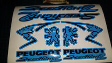 Peugeot Speedfight 2 Sticker/Decal Set  *BLUE & BLACK* 50, 70, 100, speedy pug