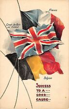 POSTCARD   MILITARY  PATRIOTIC  FLAGS   Success to a Good  Cause...