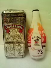 CHIVAS REGAL WHISKY TIN ++ MALIBU RUM INSULATED CARRIER - Nice!   FAST SHIPPING