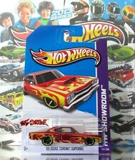 Hot Wheels 2013 #212 '69 Dodge Coronet Superbee DARK RED,2ND COLOR,YELLOW RIM