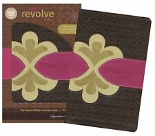 NCV Revolve Bible, Leathersoft, chocolate/raspberry/biscuit