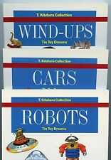 Scarce 3-Volume Book Set - Vintage TIN TOYS incl. Robots Wind-Ups Cars