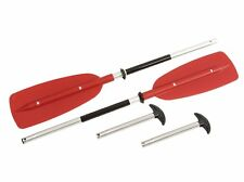 Convertible Paddle - Turns into 2 Canoe Paddles or 1 Kayak Paddle - RED