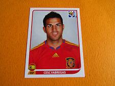 576 FABREGAS ESPAÑA ESPAGNE PANINI FOOTBALL FIFA WORLD CUP 2010 COUPE DU MONDE
