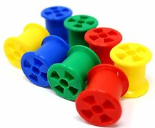 PK8 Bobbin Spools Bird Toy Parrot Parts Craft Plastic Foot Play kids counting