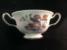 Wedgwood Kutani Crane 2-Handled Cream Soup Bowl Excellent Condition